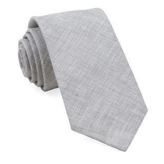 South End Solid Grey Tie
