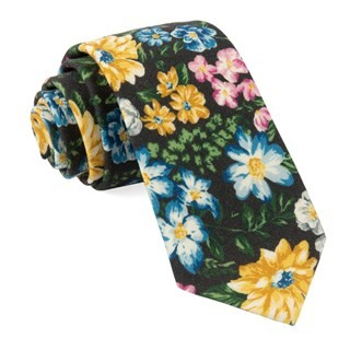 Leading Man Floral Brown Tie