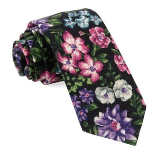 Leading Man Floral Navy Tie
