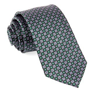 Sartorial Geo Hunter Green Tie