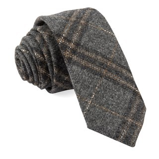 Barberis Wool Sotto Grey Tie