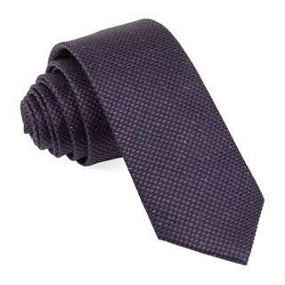 Five Star Solid Eggplant Tie