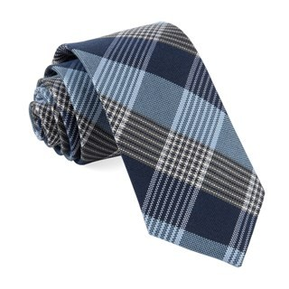 Oxford Plaid Light Blue Tie