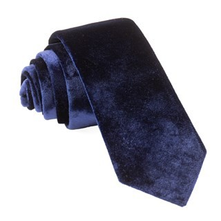 Formal Velvet Navy Tie
