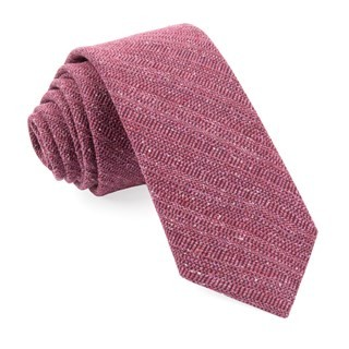 Bear Lake Solid Raspberry Tie