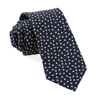 Animated Hearts Navy Tie