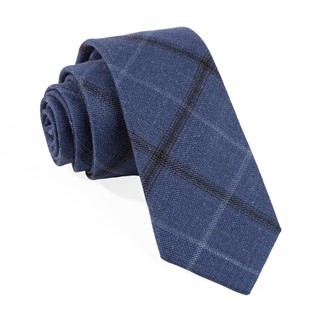 Barberis Wool Sera Blue Tie