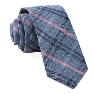 Plaid Drift Navy Tie