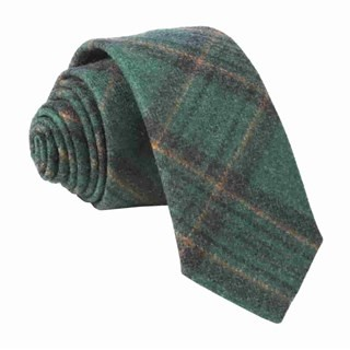 Barberis Wool Allegro Green Tie