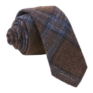 Barberis Wool Maschile Brown Tie