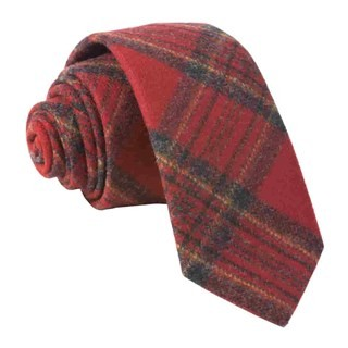 Barberis Wool Natale Red Tie