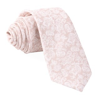 Bhldn Flower Portrait Champagne Tie