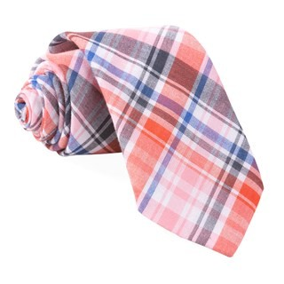 Plaid Umbra Red Tie