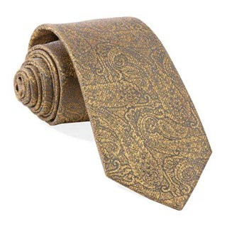 Estate Paisley Gold Tie