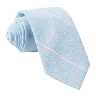 Sea Breeze Panes Light Blue Tie