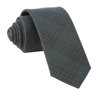 Harvest Glen Plaid Hunter Green Tie