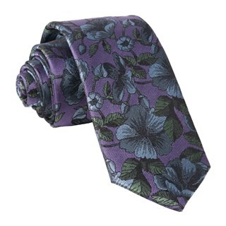 Monarch Floral Purple Tie