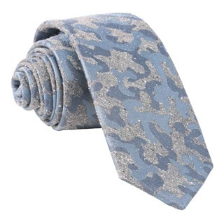 Speckled Camo Grey Tie