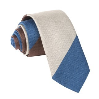 The Mega Stripe Brown Tie