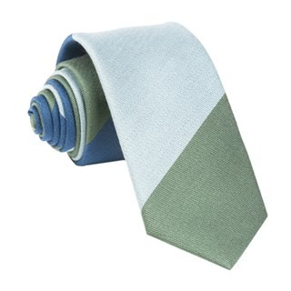 The Mega Stripe Navy Tie