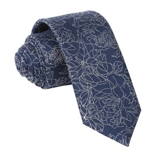 Lace Floral Navy Tie
