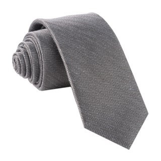 Alleavitch Herringbone Charcoal Tie