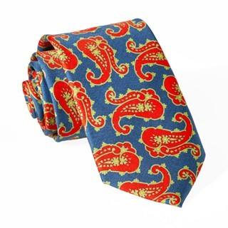 Phelps Paisley Orange Tie