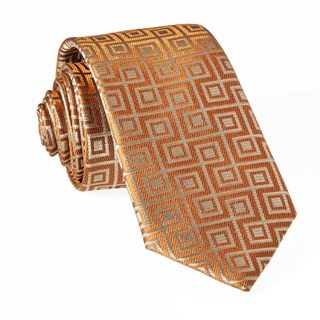Square Geo Orange Tie