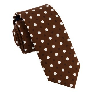 Tonal Dots Chocolate Brown Tie