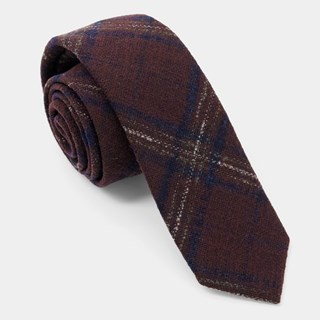 Barberis Wool Gioiello Burgundy Tie