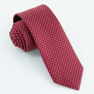 Micro Pin Dot Burgundy Tie