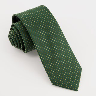 Micro Pin Dot Hunter Green Tie
