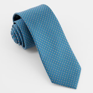 Micro Pin Dot Teal Tie