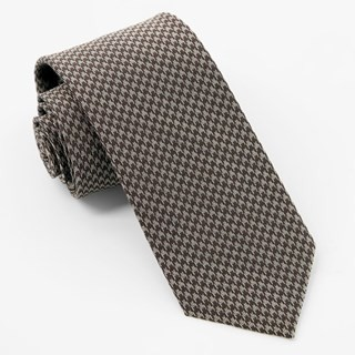 Puppy-Tooth Chocolate Brown Tie