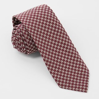 Royal Houndstooth Burgundy Tie