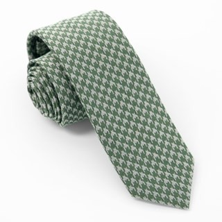 Royal Houndstooth Olive Tie