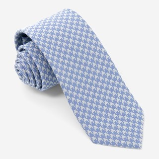 Royal Houndstooth Sky Blue Tie