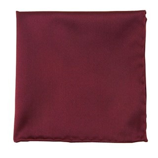 Solid Twill Wine Pocket Square