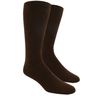 Solid Brown Dress Socks