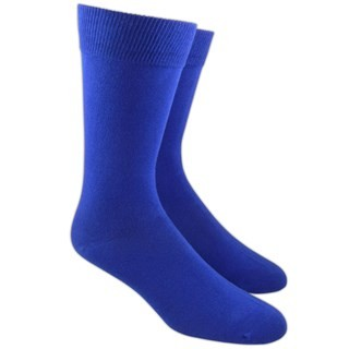 Solid Royal Blue Dress Socks