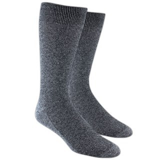 Solid Texture Grey Dress Socks