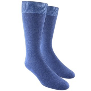 Solid Texture Blue Dress Socks