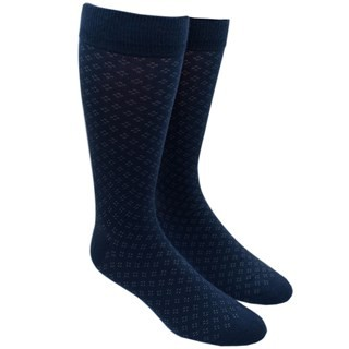 Speckled Navy Dress Socks