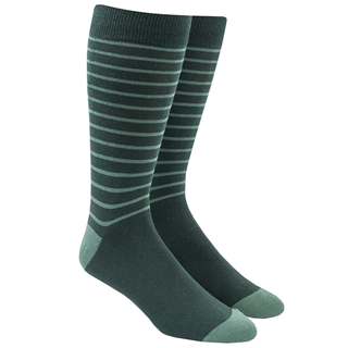 Woodland Stripe Greens Dress Socks