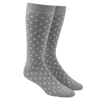 Circuit Dots Khaki Dress Socks