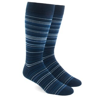 Multistripe Blues Dress Socks