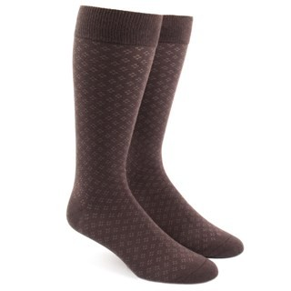 Speckled Brown Dress Socks