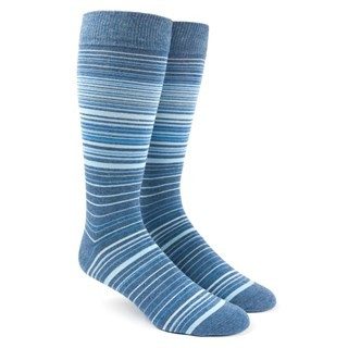 Multistripe Blue Dress Socks