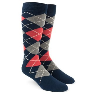 Argyle Melon Dress Socks