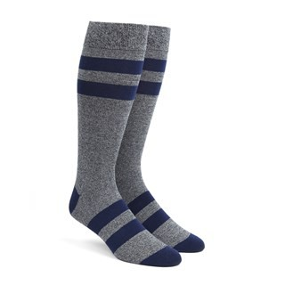 Varsity Stripe Navy Dress Socks